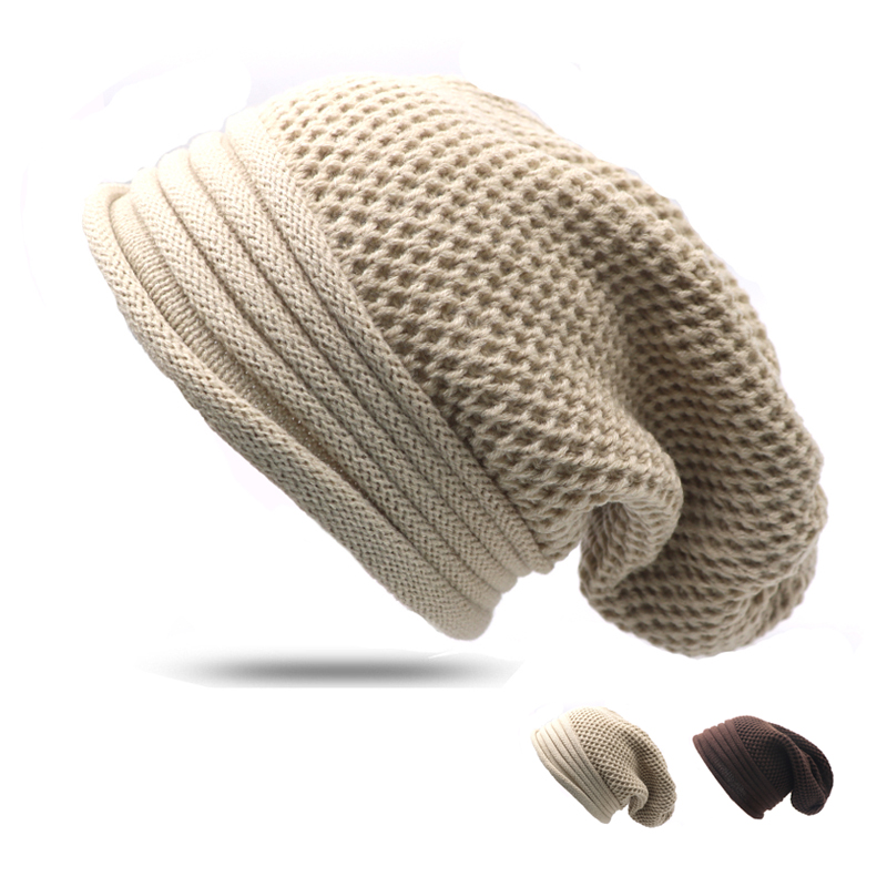 Hot Sale Knitted Beanies Unisex Fashion Knit Hats Autumn and Winter Solid Color Elastic Hip-Hop Cap For Men Women Hat Bonnet fashion winter hat solid color woolen flat top cap unisex autumn and winter cap w005