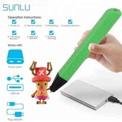 Android usb 3d stylo livraison gratuite 2019 nouveau sunlu SL-600 3D stylo Support PLA/PCL Filament 1.75mm mode design 3D dessin stylo d'impression