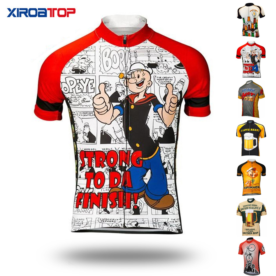HOT NEW Cartoon Men's Cycling Jersey Quick-Dry Summer Team Bicycle Clothing Cycle Wear Shirt Ropa Ciclismo MTB Bike Jerseys Tops(China)