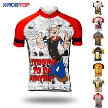 قمصان صيفية لركوب الدراجات للرجال مزودة بتهوية كارتونية ، قمصان قصيرة الاكمام ، مايوه ciclismo hombre