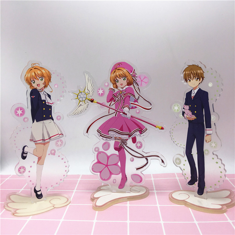 Anime Cardcaptor Sakura Acrylic Stand Model Toys Sakura Action Figure Pendant toy 15cm double-side gift