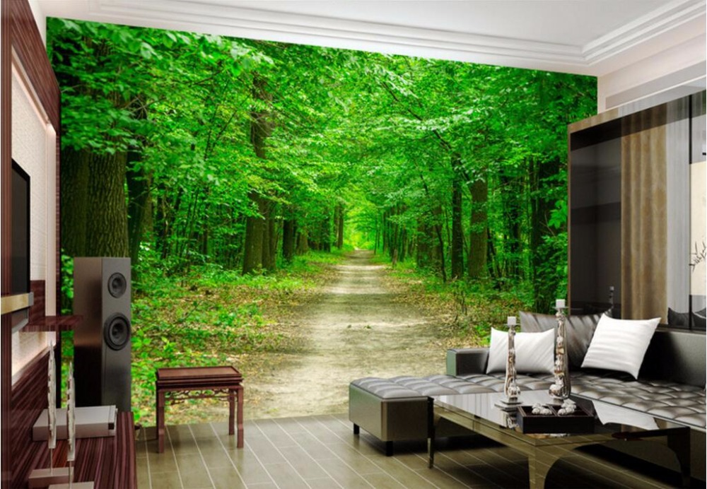 3 d photo wallpaper Tree avenue picture home decoration painting Custom mural 3d wall murals wallpaper for living room walls 3 d custom mural 3d photo wallpaper water falls crane home decor painting 3d wall murals wallpaper for living room walls 3 d