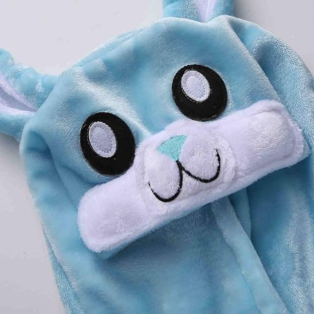 8ea776a1ba placeholder HKSNG Pink Blue Bunny Rabbit Kigurumi Winter Adult Animal  Cartoon Cute Christmas Pajamas Family Onesies Cosplay