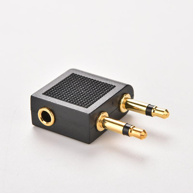 3.5mm Stereo AUX Jack 2 Male To 1 Female F Splitter Headphone Audio Adapter Airplane Travel On Plane Airline Audio Converter