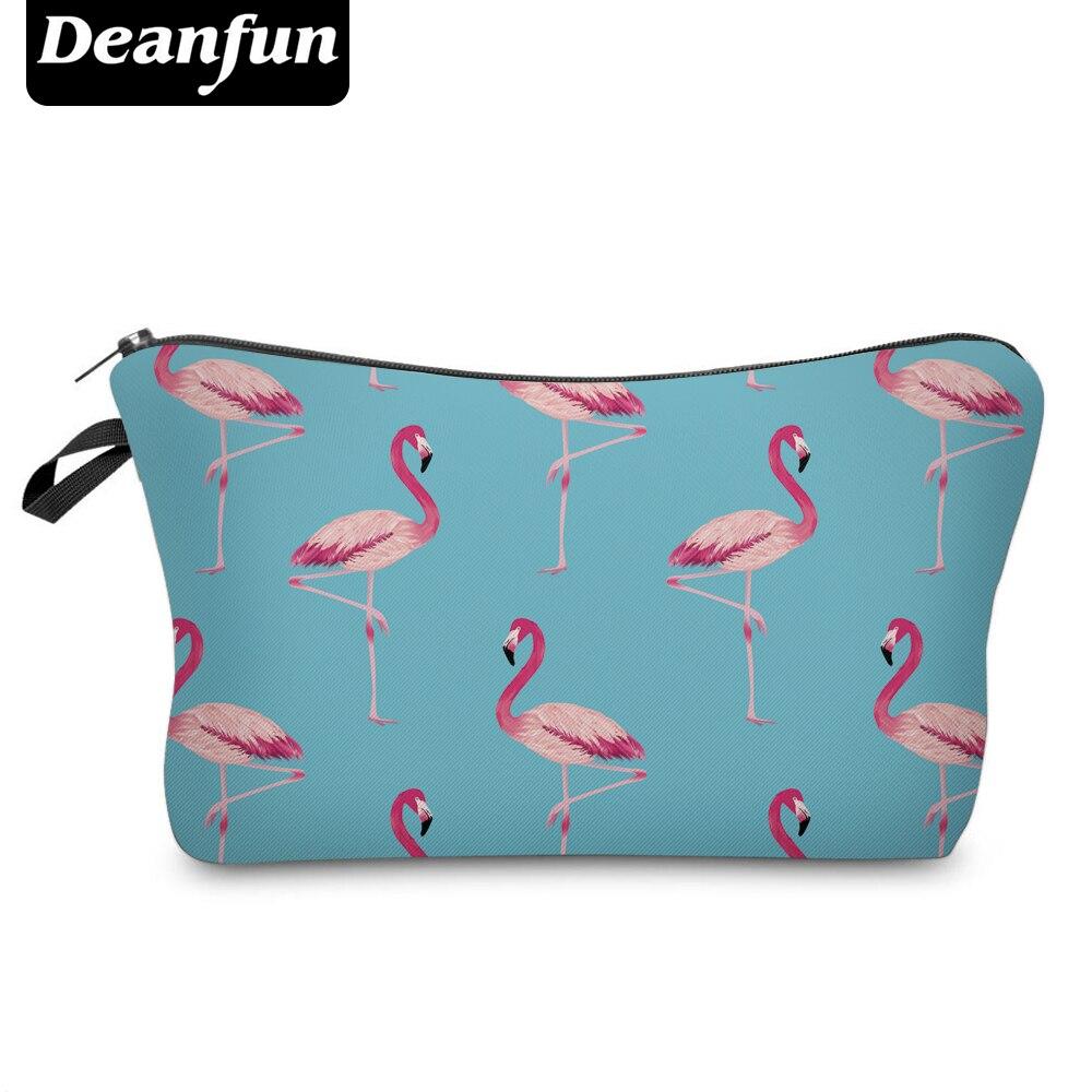 Deanfun 3D Printed Cosmetic Bags Flamingo Blue Fashion Organizer Makeup Necessaries  51072