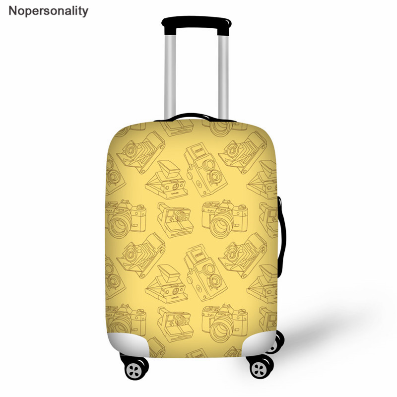 Nopersonality Yellow Camera Suitcase Cover Protector Elastic Luggage Cover Travel Accessories Trolley Case Protective Cover