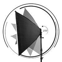 Освещение для фотосъемки 50x70 см четыре лампы софтбокс набор E27 держатель с 8 шт лампа мягкая коробка аксессуары для фотостудии видео 2