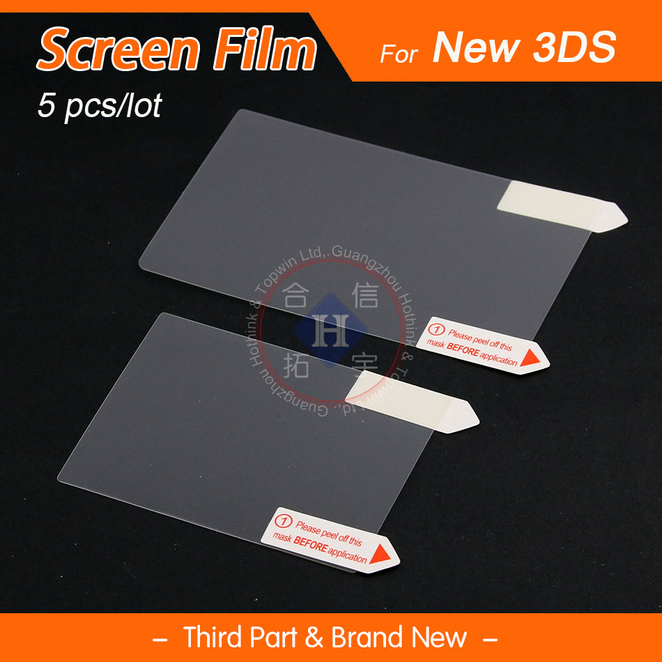 HOTHINK 3pcs/lot Top & Down LCD Screen Protector Film Guard For Nintendo New 3DS (2015 Version)