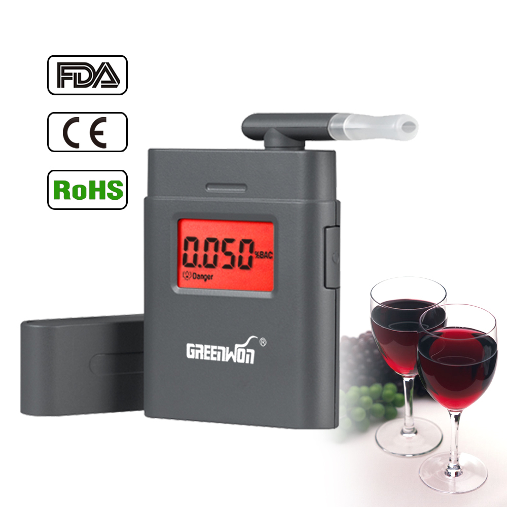 2017 patent for new factory LCD digital breath alcohol tester driving BAC analyzer for free shipping to drag ...
