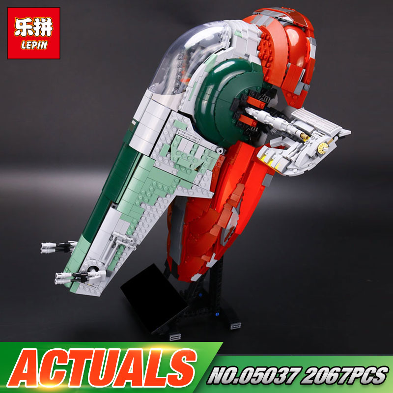 NEW LEPIN 05037 Star Series War UCS The Slave Set 1 Model 2067pcs Building Block Bricks Toys Compatible 75060 Children Gifts new lp2k series contactor lp2k06015 lp2k06015md lp2 k06015md 220v dc