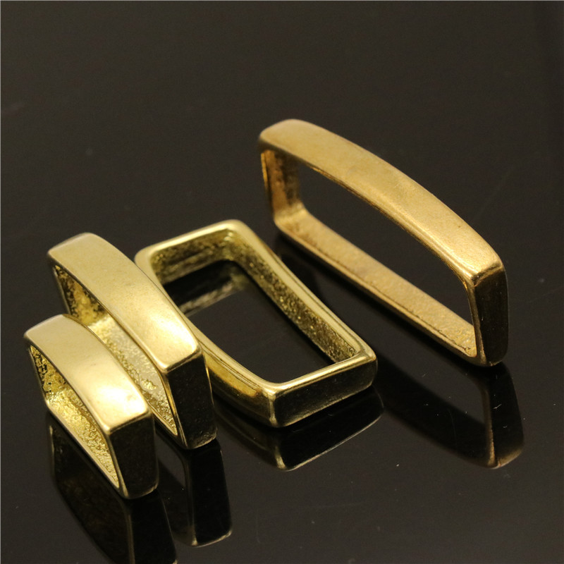 """SOLID HEAVY CAST BRASS KEEPER 25mm BELT LOOP STRAP TO FIT 1/"""""""