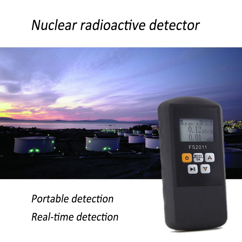 Electric Nuclear Radiation Detector Portable Multi functional Digital Monitoring Alpha Beta Gama Ray Radiation Detector