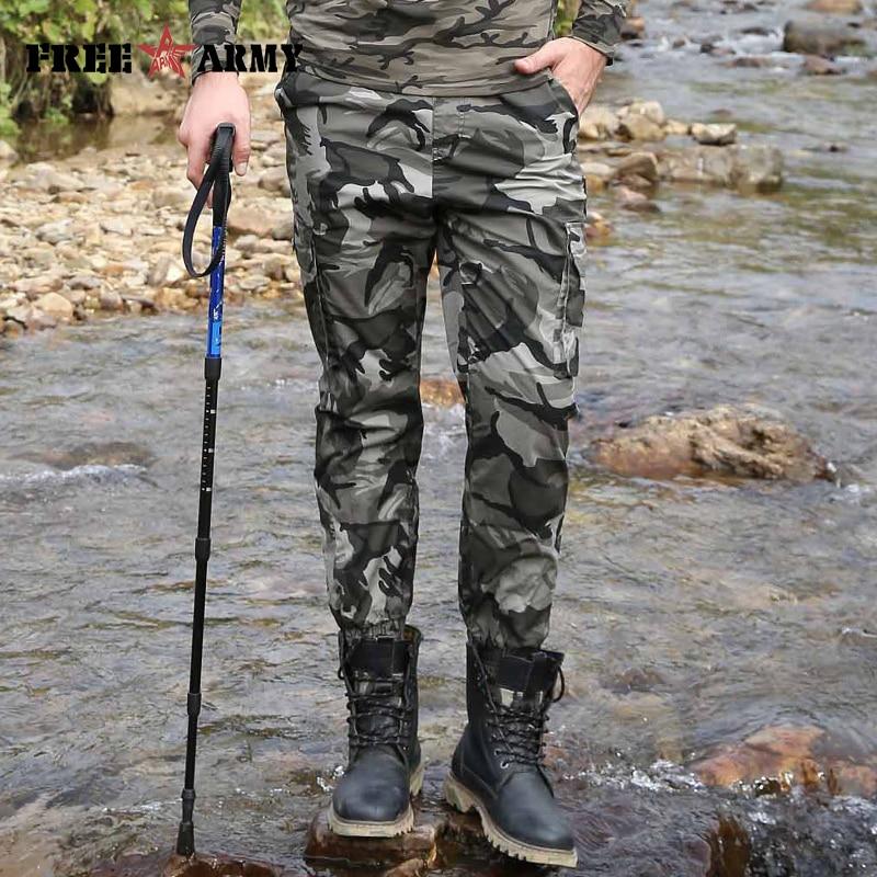 100% Wahr Camouflage Männer Militär Hosen Multi-tasche Knöchel Länge Hosen Elastische Knöchel Hosen Hosen Männer Casual Military Cargo Hosen Fein Verarbeitet