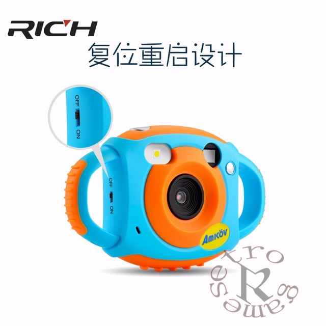 New upgraded lithium battery  Mini Kid Cameras 5MP HD Projection Digital Camera Fotografica Digital Portable Cute Neck Child