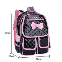 Children School Backpack for Girls School Bags Bow Tie PU Leather Waterproof Schoolbag Primary Student Backpacks Mochila Escolar