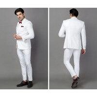 クラシック品質ホワイトメンズスーツタキシードジャケットterno衣装オムビジネススーツ結婚式スーツ用男