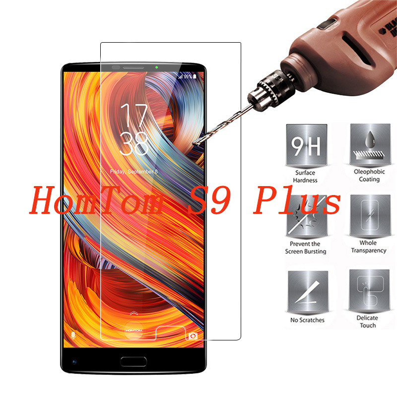 2PCS Tempered Glass 9H Explosion-proof Protective Film Screen Protector mobile phone for HomTom S9 Plus cover(China)