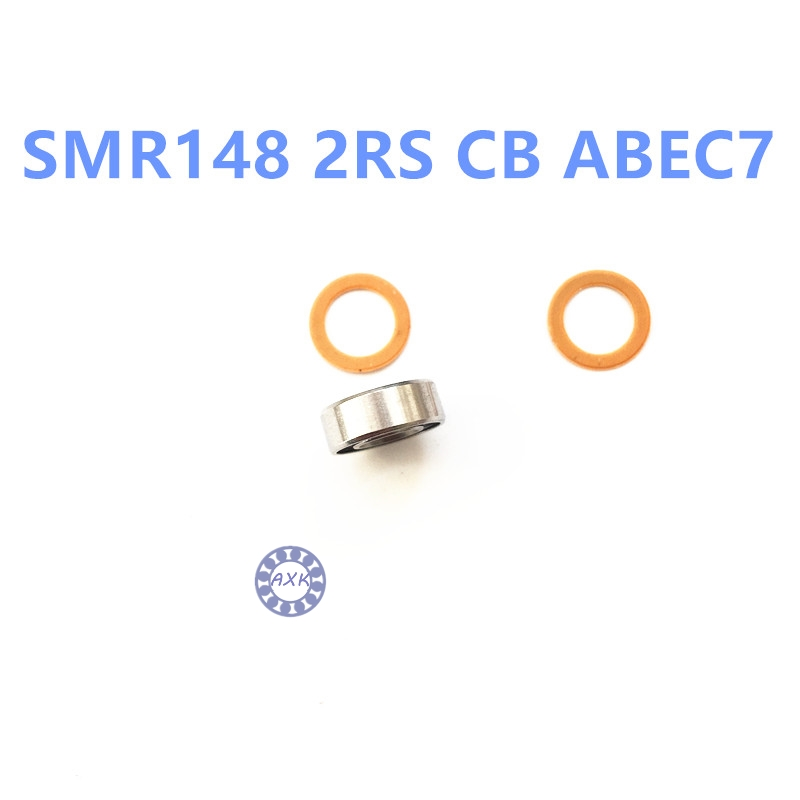 SMR148 2RS CB ABEC7 8x14x4mm  ss rings+ hybrid ceramic si3n4 balls bearing кольцо yc size6 14 8 rings