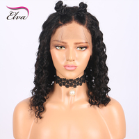 Elva Short Curly Lace Front Human Hair Wigs Pre Plucked Natural Hairline With Baby Hair Brazilian Remy Hair Wigs For Black Women