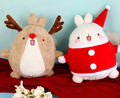 Super lindo 1 unid 33 cm cartoon Molang wapiti Navidad conejo de conejito de peluche muñeco de peluche de juguete los niños de San Valentín regalo del día