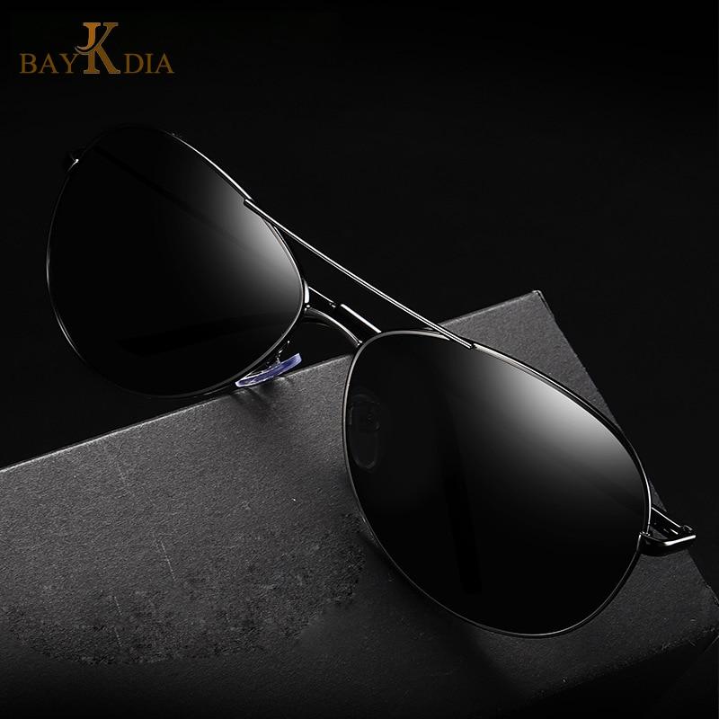 ac998ba33 BAYKDIA Premium Military Style Classic Pilot Sunglasses, Polarized, 100% UV  protection