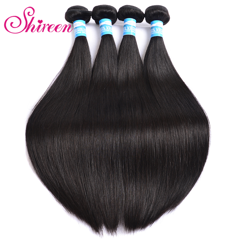 Shireen Hair Malaysian Straight Hair Extension 8-30 Inch Natural Color Human Hair Bundles 100% Remy Hair Weave 3 bundles deals(China)