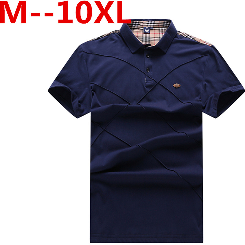 10XL 9XL 8XL 7XL 6XL 5XL New Polo Shirt Men Short sleeve Cotton Casual Breathable Shirt