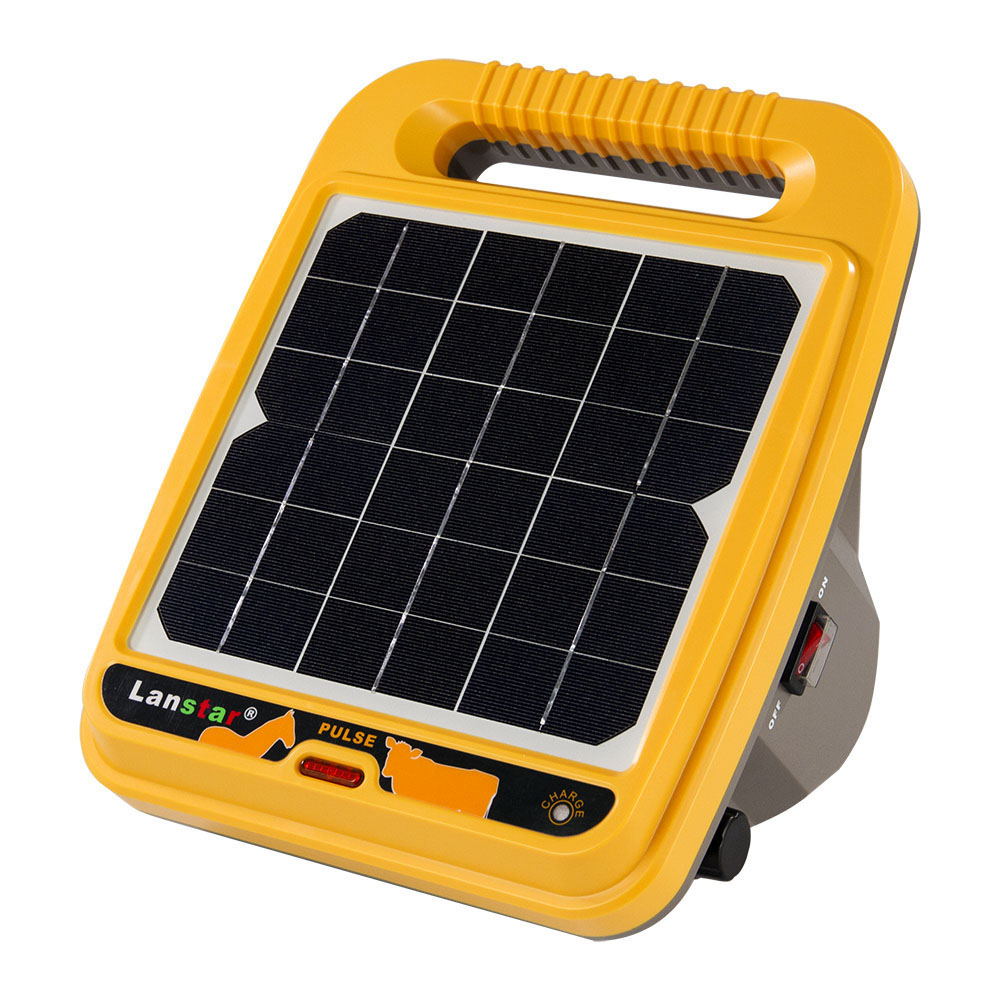 Solar Powered 12KV 0.4J Output Farm Electric Fence Energizer Electric Fencing Charger Controller