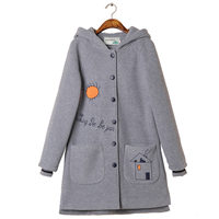 Girls-Spring-Autumn-Coats-New-2018-Fashion-Brand-thick-Woolen-Jacket-Solid-Casual-Print-Winter-Women