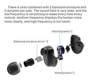 Image 5 - BQEYZ KC2 2DD + 2BA HIFI سماعة رأس جهيرة الصوت الرياضة في الأذن سماعة ديناميكية سائق إلغاء الضوضاء سماعة استبدال كابل BQ3 T3 T2 F3