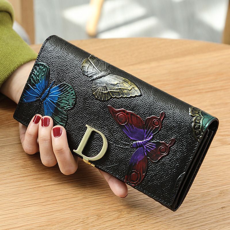New Hot Sale Wallet Brand Coin Purse Genuine Leather Women Wallets Purse Female Card Holder Long Lady Clutch Carteira Feminina new hot sale envelope clutch handy bag fashion brand long women lady purse cell mobile iphone card case evening party wallet