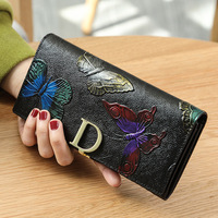 New Hot Sale Wallet Brand Coin Purse Genuine Leather Women Wallets Purse Female Card Holder Long Lady Clutch Carteira Feminina