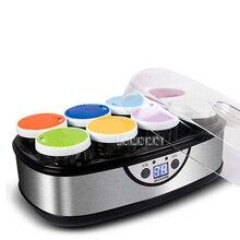 Домашний йогурт машина DL-4005 8 стеклянный подстаканник большой емкости из нержавеющей стали автоматический набор йогурт машина 220-240 в 50 Вт 1600 мл