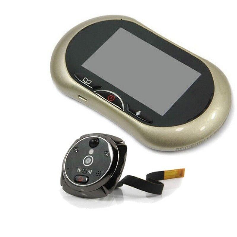 GSM Mobile Porte Judas Spectateur Caméra avec 3.5 Pouces TFT-LCD Numérique Grand Angle Écran Tactile Moniteur Avec Multi-Langue voix