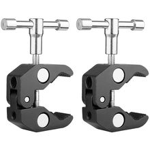 2Pack Super Clamp Crab Photography with / 1/4 and 3/8 inch Thread Rod Pliers Clip for DSLR Rig Cameras, 15mm Rods,