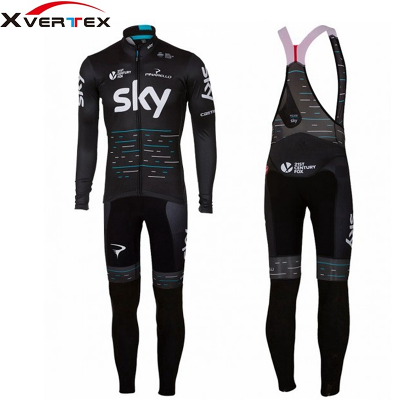 UCI World Pro Team racing Cycling Jersey And 9D gel pad Bib pants long Kit  Ropa ciclismo 2018 black blue long sleeve Jersey teleyi team cycling outfits mens ropa ciclismo long sleeve jersey bib pants kits bicycle jacket trousers set red black