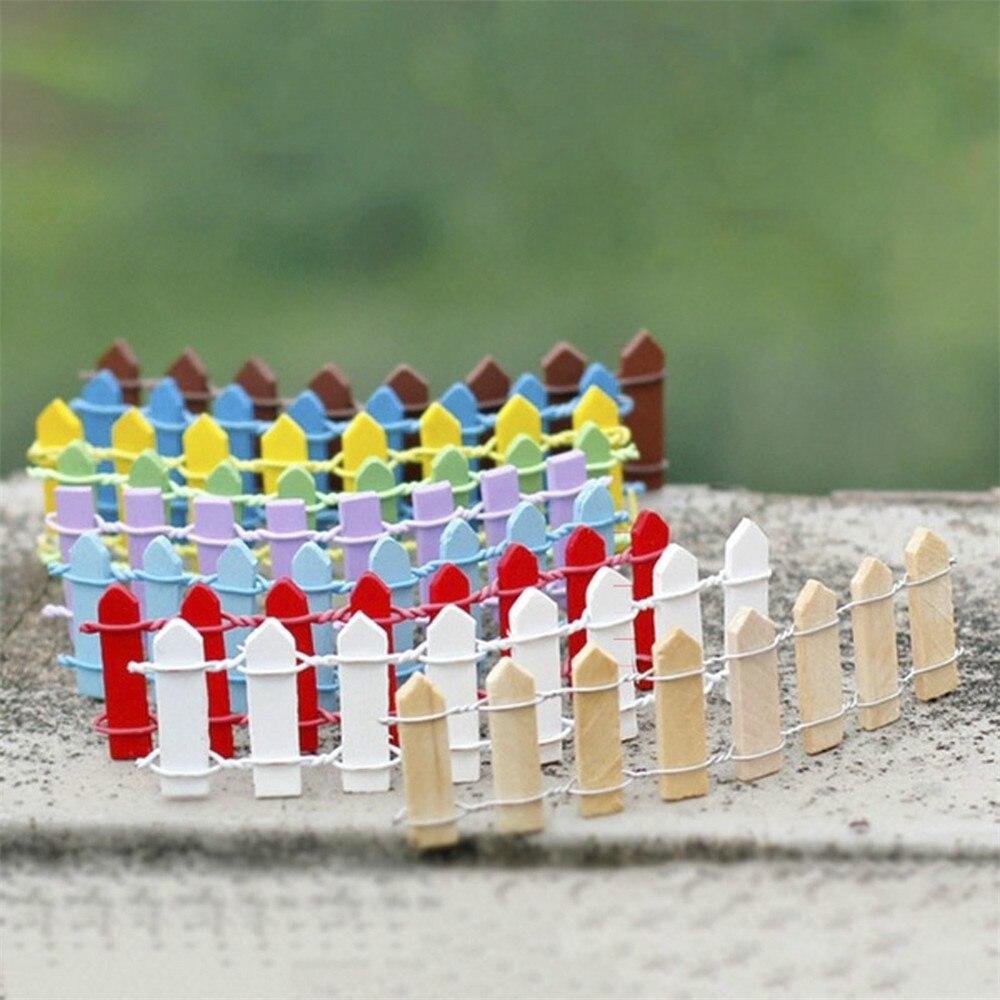 10 unids hada minscula maceta decoracin mobiliario jardn valla de madera de la boda de juguete