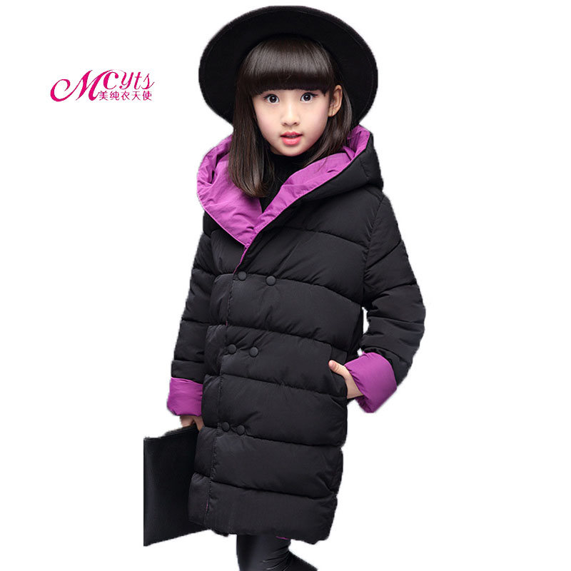 2018 New Winter Children Outerwear & Coats For Girls Jacket Thickening Warm Fashion Kids Hooded Parkas Coat 4 6 8 10 12 13 Years 2018 new fur hooded kids winter coat girls jacket fashion warm coats girls winter coat 4 12 years parka children outerwear