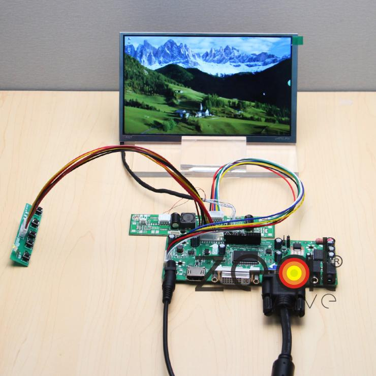 HDMI+DVI+VGA+Audio Controller Driver Board+7 TFT 1024*600 For LMS700JF04 IPS Display