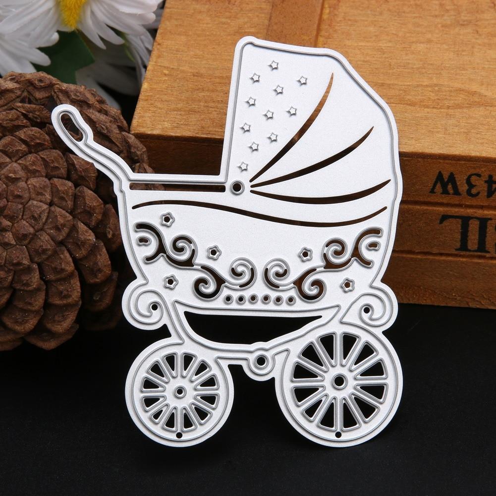 Scrapbook paper cart - Cute Metal Baby Carriage Shape Embossing Cutting Dies Stencils For Scrapbooking Photo Album Diy Crafts Paper Cart Decor