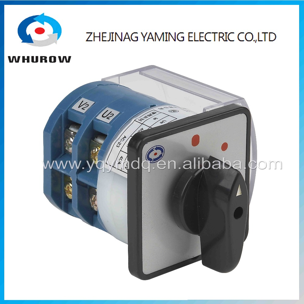 Rotary switch 2 postion 0-1 off-on 2 poles 40A HZ12-40/02 universal power cut off switch milling machine sliver contacts 660v ui 10a ith 8 terminals rotary cam universal changeover combination switch