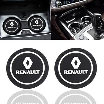 Fashion Car Coaster Silicone Epoxy Coaster Car Decoration for Renault  Megane Car Shaper 2 3 Captur Latitude Clio Scenic Laguna 1