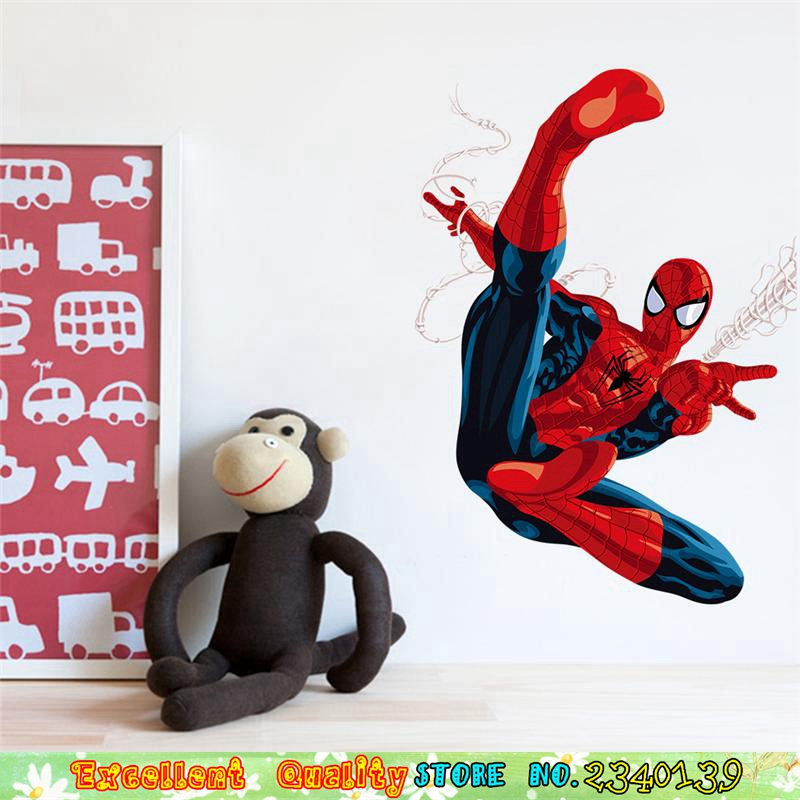 Marvel Spiderman 3D Wall Stickers For Kids Boys Room Wall Art Decals ...