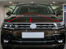 for 2016 2017 2018 2019 VW tiguan mk2 European version FRONT HOOD BONNET GRILL LIP MOLDING COVER TRIM BAR GARNISH MESH 3pcs/set