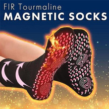 חדש עצמי חימום בריאות גרבי טורמלין טיפול מגנטי נוח ונושם לעיסוי חורף חם רגל טיפול גרביים