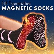 Novo auto aquecimento meias de cuidados de saúde turmalina terapia magnética confortável e respirável massageador inverno quente pé cuidados meias