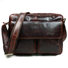 JOYIR Designer Genuine Leather Men Large Messenger Bags Casual Business Crossbody Bag Leather Shoulder Bags For Men Male Bag8701