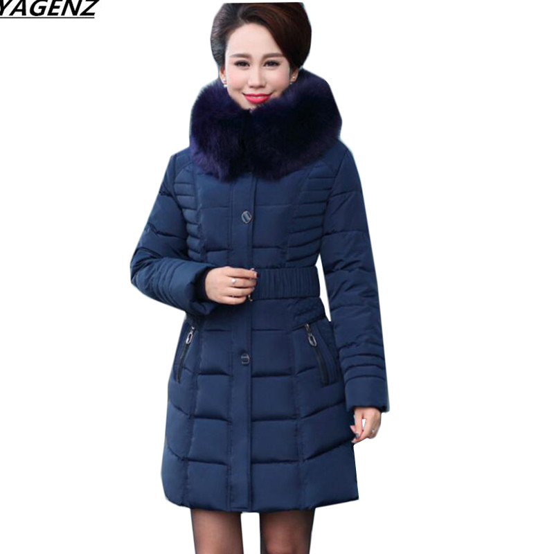 Winter Jacket New Women Parkas Large Size 5XL Mother Clothing Thick Warm Down Cotton Jacket Medium Long Hooded Outerwear YAGENZ down cotton winter hooded jacket coat women clothing casual slim thick lady parkas cotton jacket large size warm jacket student