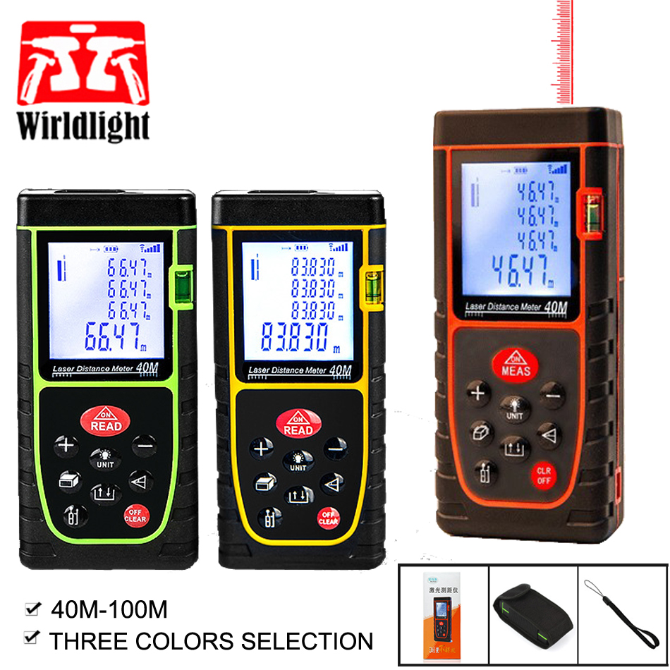 trena laser range finder rangefinder digital laser distance meter 40M 60M 80M 100M medidor Laser ruler Roulette tester tool