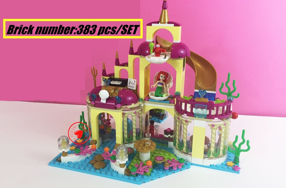 Girl Princess Undersea Palace Model Building Kits figure Blocks Bricks kid Girl Toy Gift Compatible With 41063 Girls Friends new undersea palace building blocks set 400pcs bricks toys for girls compatible with lego princess toys block girls toy gift